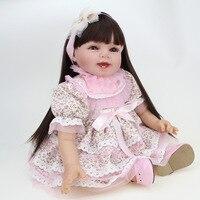 Силикона Reborn Baby Doll Обувь для девочек Игрушечные лошадки 22 дюймов милые девушки куклы для Рождественский подарок Реалистичного Reborn Детские