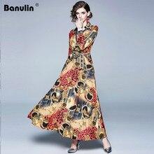 Women Runway Vintage Leopard Print Dress 2019 Summer Cross V Neck Long Sleeve Lace-up Waist Belt Elegant