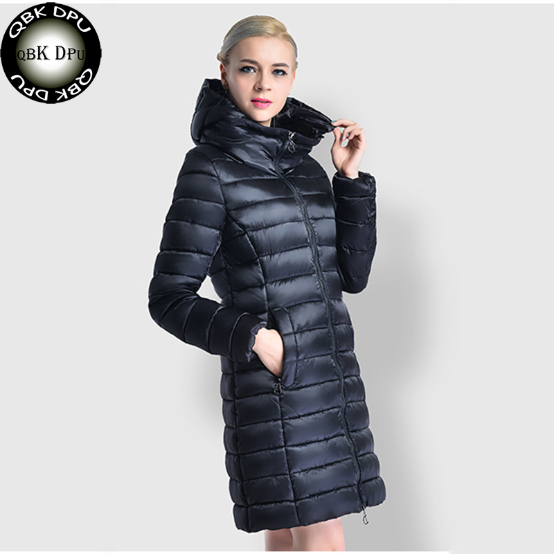 QBKDPU warm Coat Cotton Pattern clothing warm jackets Winter Down cotton Womens Parka with hood plus Size 3xl Parka slim jacket