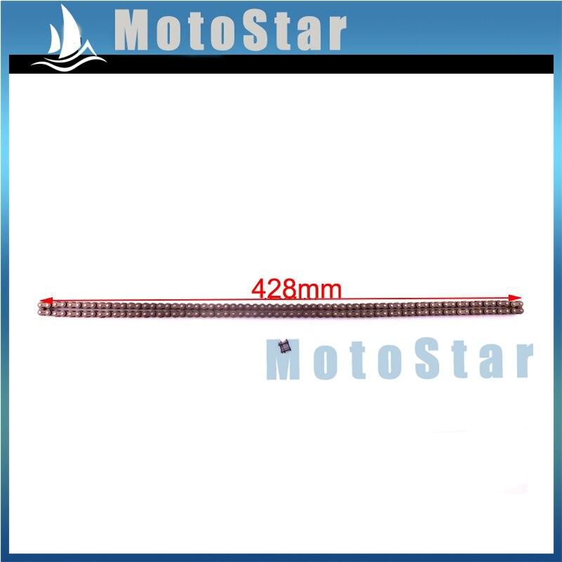 STONEDER 25H Sprocket Chain With Spare Master Link For 2 Stroke 47cc 49cc Chinese Mini Dirt Pocket Bike Kids ATV Quad Minimoto