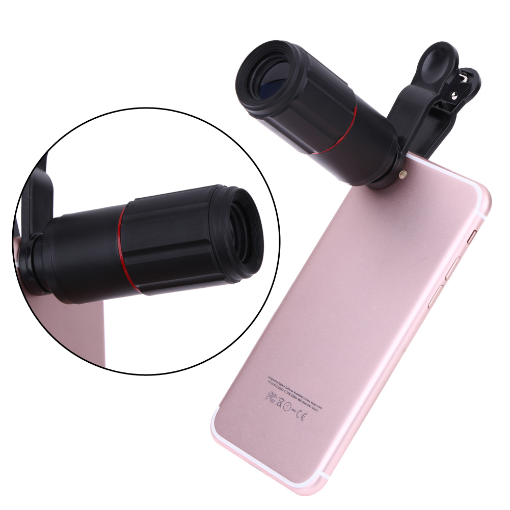 ALLOYSEED Universal 8X Zoom Telescope Telephoto Camera Lens Mobile Phone Lens with Clip for iPhone Samsung Huawei Smarts Phones 7