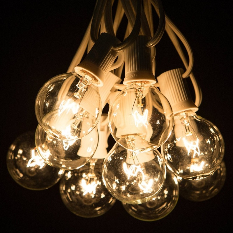 Clear String Lights Indoor : 1X G50 String Light 25 G50 Clear Globe Bulbs for Indoor/Outdoor Vintage Backyard Patio Lights 7 ...