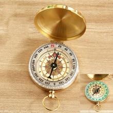 Clamshell-Compass Pure-Copper Measuring-Ruler-Tool Multi-Function Luminous-Pocket Metal