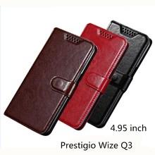 лучшая цена Case For Prestigio Wize Q3 Case PU Leather Flip Luxury Holder Phone Bag Cases Cover For Prestigio Wize Q3 Wallet Case