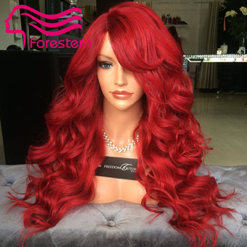 8a grade glueless full lace human hair wigs red brazilian