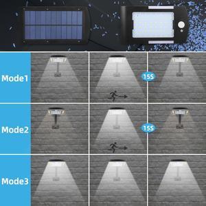 Image 2 - 48 ĐÈN LED Năng Lượng Mặt Trời 3 Chế Độ Cảm Biến Chuyển Động Chống Nước Ngoài Trời Sân Vườn LED Trang Trí Cầu Thang Vườn Truy Cập An Toàn Đèn Năng Lượng Mặt Trời