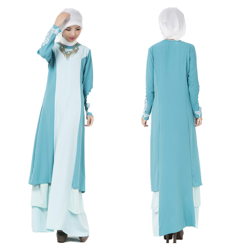 A005 One Pcs Muslim Ladies Prayer font b Abaya b font Korea Linen Comfortable New Style