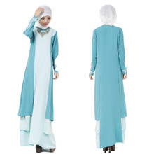 A005 One Pcs Muslim Ladies Prayer Abaya Korea Linen Comfortable New Style Islamic Caftan