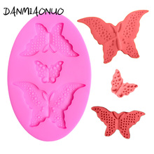 DANMIAONUO Lovely Butterfly 3d Mold Silicone Cake Chocolate Gumpaste Food Grade Fondant Decorating Tools DIY