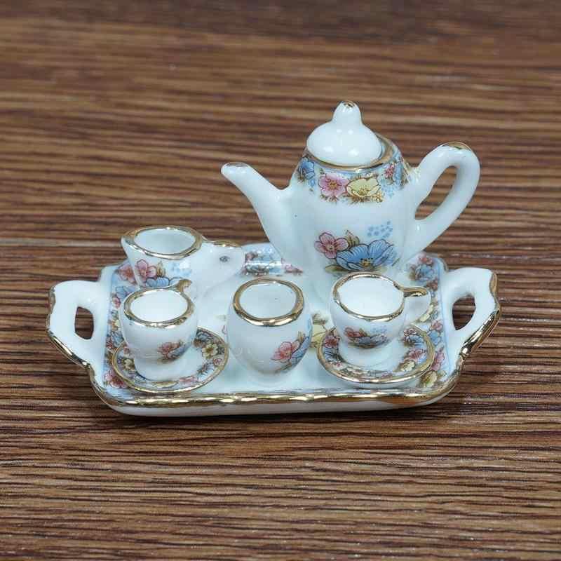 Dongzhur Toy Dollhouse Miniatures 1:12 Accessories Mini Porcelain Sets DIY Handmade Doll House Ceramic Ornament Decoration