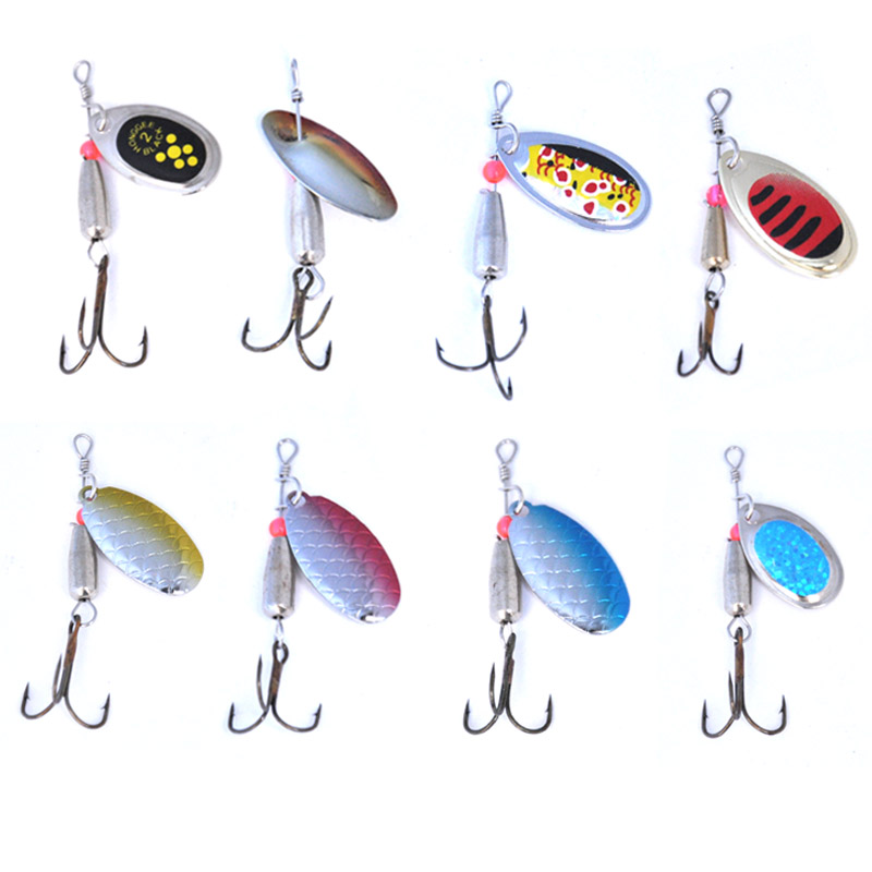 Image 5 - OLOEY 30PCS fishing lure artificial metal spoon silicone wobbler fishing spinner lures deep carp bait diving perch wobbler fish-in Fishing Lures from Sports & Entertainment