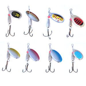Image 5 - OLOEY señuelo de pesca artificial, cuchara de metal, cucharilla de pesca de silicona, carpa profunda, wobbler de perca para buceo, 30 Uds.