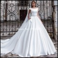 Milla Nova Satin Wedding Dresses 2017 New Simple Satin Summer Garden Bridal Gowns Long Beads Marry Vestido De Noiva
