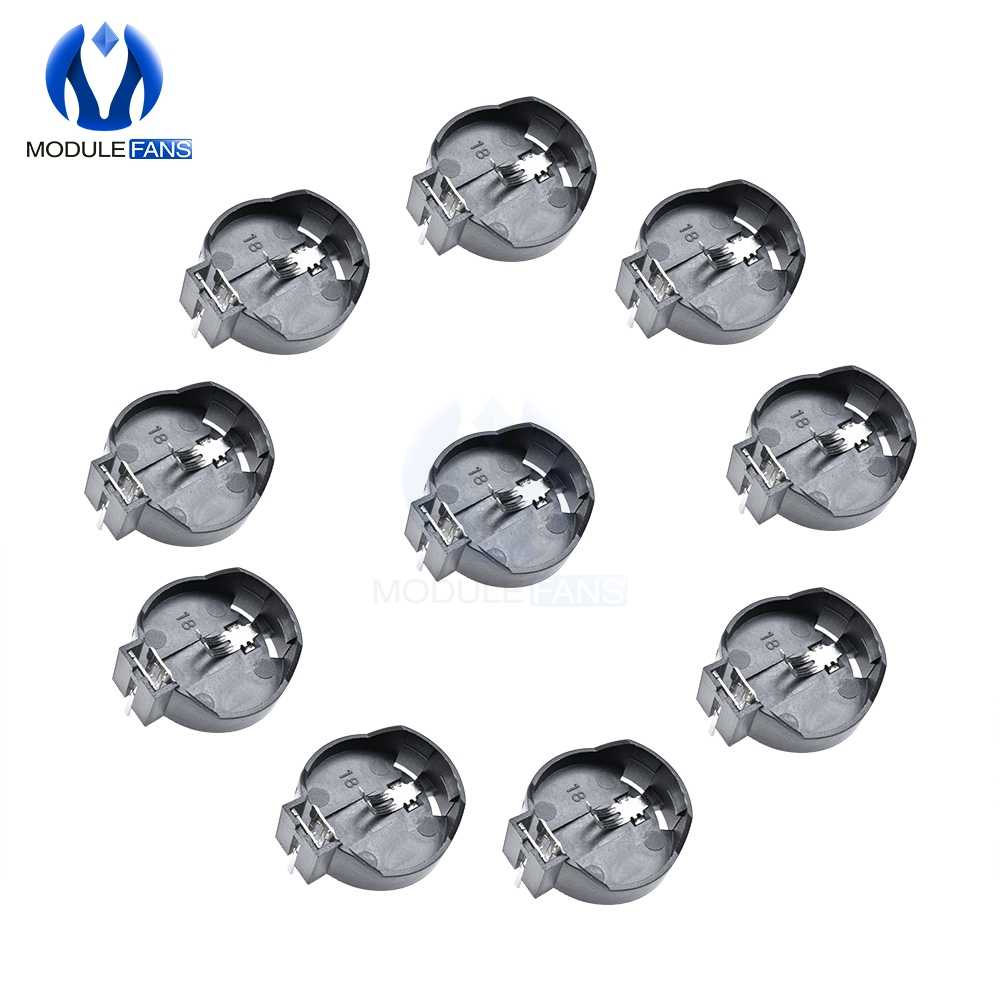 10Pcs Diy Electronic CR2032 CR2025 3V Button Coin Cell Battery Socket Holder Box Case GM