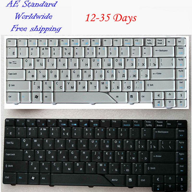 Russian Laptop Keyboard for Acer For Aspire 4710 5310 4210 4220 4520 4720 4920 5220 5520 5710 5720 5910 5920 5930 6920 RU for acer 7220 7520 5315 5720 7720 5520 5310 laptop cpu fan
