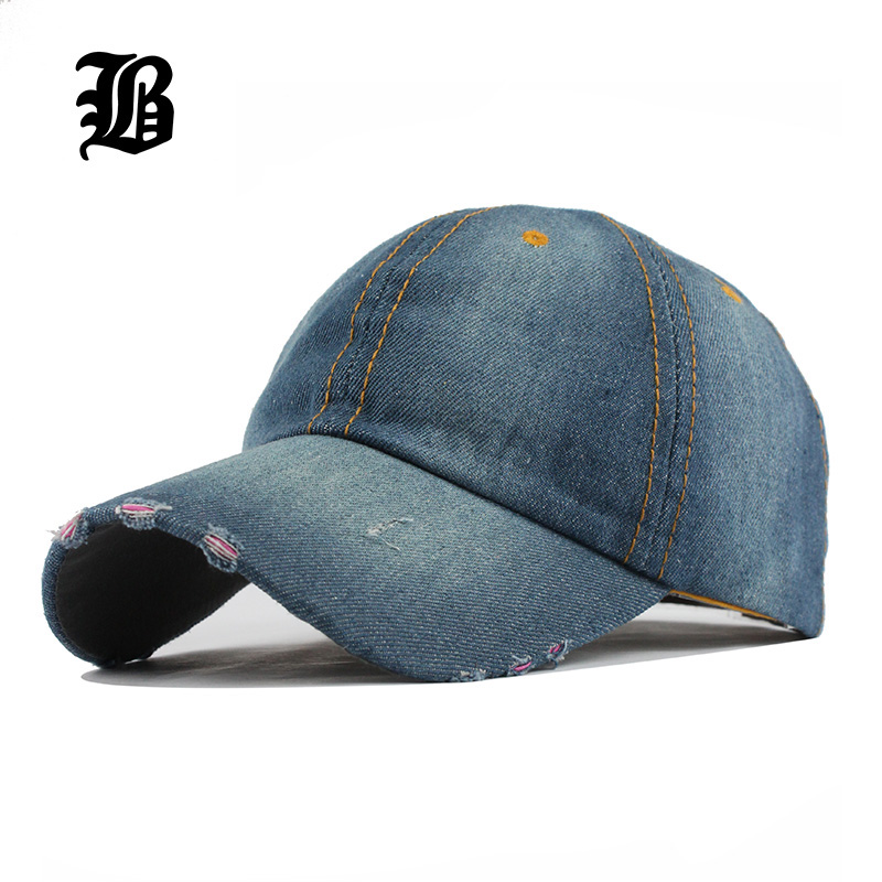[FLB] Unisex Cowboy Baseball Cap Fall Casual Sanpback Hats For Men And Women Outdoor Sport Denim Jeans Hip Hop Wholesale F220
