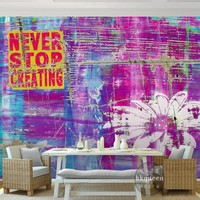Free Shipping Flower Retro Aesthetic Abstract Background Wallpaper High Quality Restaurant Studio Bedroom Mural