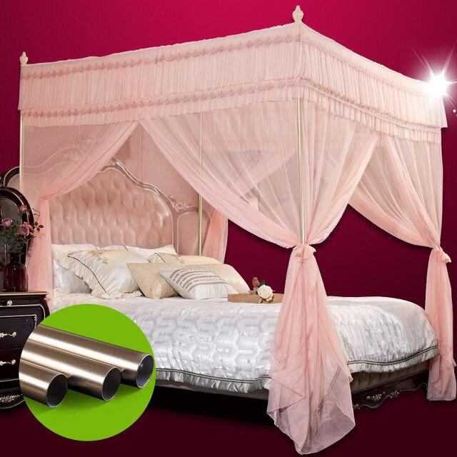 Alta calidad de china mosquitera mental marcos soporte cama cenefa ...