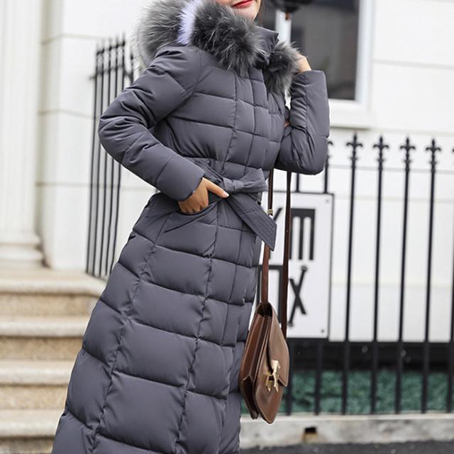 Bella Philosophy 2018 Winter New Coat Jacket long Fashion Jacket Women Thick Down Parka female Slim Fur Collar Warm Cotton Coat