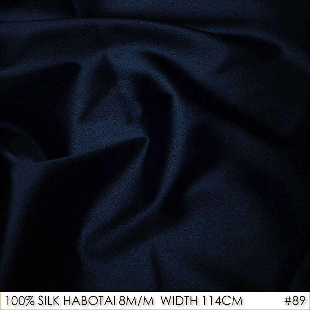 CISULI-soie 100% largeur 114cm   Tissus en soie Pure Jarn, Batik, tissu de peinture, patchwork, soi-même, bleu, NO 89
