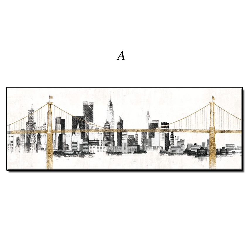 Original 100% Hand Painted Abstract City Art Oil Painting Canvas Wall Art High Quality Modern Handmade Home Decoration Painting