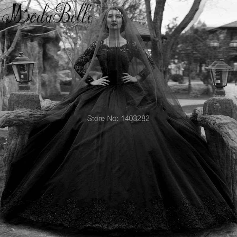 Great Online Get Cheap Black Gothic Wedding Dresses With Long