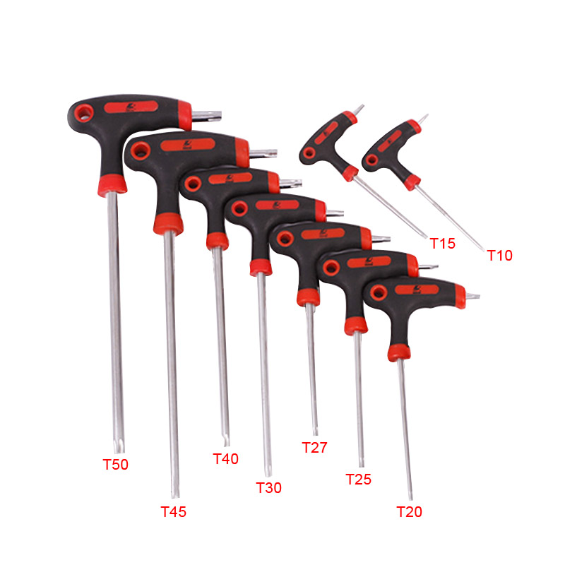 T10/T15/T27/T30/T40/T45/T50 Long Arm Star <font><b>Torx</b></font> Allen Hex Key Wrench Spanner Hexagon <font><b>T</b></font> Type Wrenches Tools --M25 image