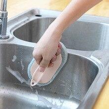 1 個キッチンスポンジ消しゴム皿クリーナー皿洗浄ブラシ浴室クリーニングブラシ窓クリーナーのためのブラシ