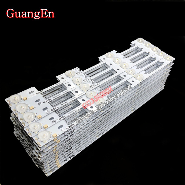 New 100Pieces LED backlight bar for KONKA KDL39SS662U 35018339 35018340 327mm 4 LEDs( 1 LED 6V) High quality Free Shipping
