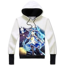 Vocaloid Miku Hatsune Hoodie Sweatshirt Long Sleeves for  Teens