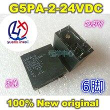 משלוח חינם 10PCS G5PA 2 G5PA 2 24VDC 24V G5PA 2 5A 6