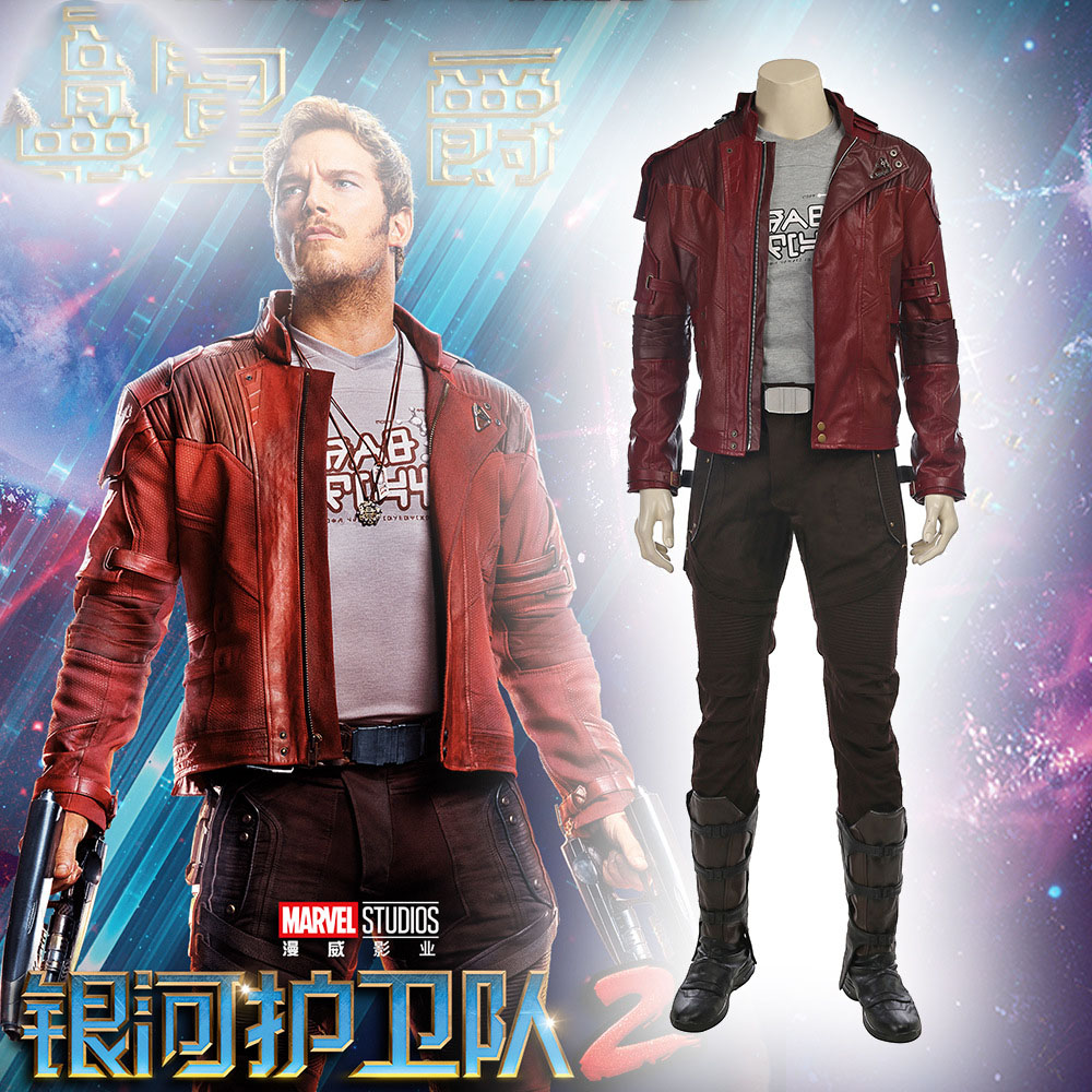 Guardians of The Galaxy 2 Cosplay Costume Star Lord Cosplay Costume Full Suit Peter Quill Cosplay Custom Made