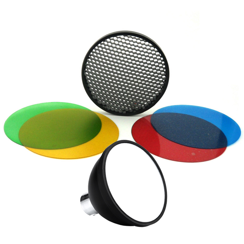 Godox AD-S11 Color Gels Filter Honeycomb Grid +AD-S2 Standard Reflector Soft Diffuser For Witstro AD-360 II AD360II AD180 AD200