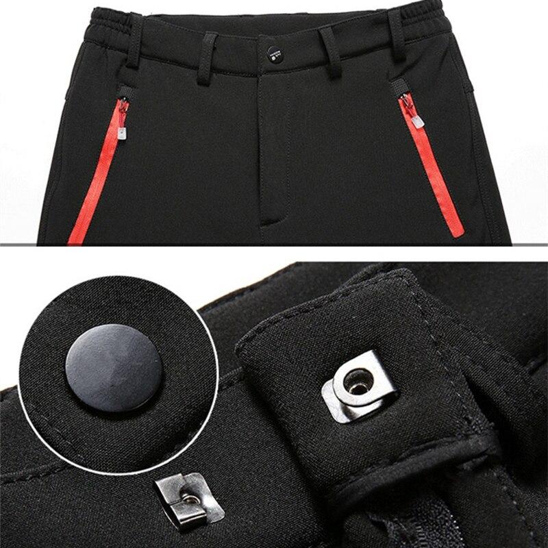 HTB1Re9 avDH8KJjy1Xcq6ApdXXaW 2019 Winter Men Cargo Pants Elastic Waist Travel Softshell Trousers Waterproof Windproof Thermal Men's Warm Men's Trousers