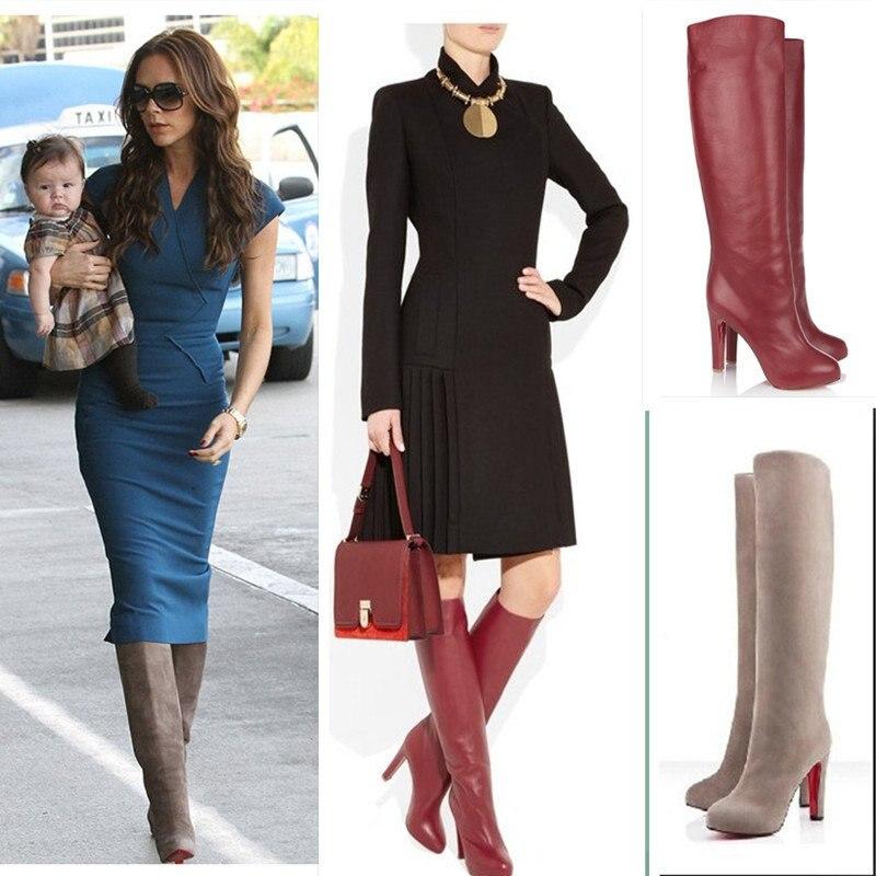 2012 Newest Fashion Victoria Style Suede Boot Genine