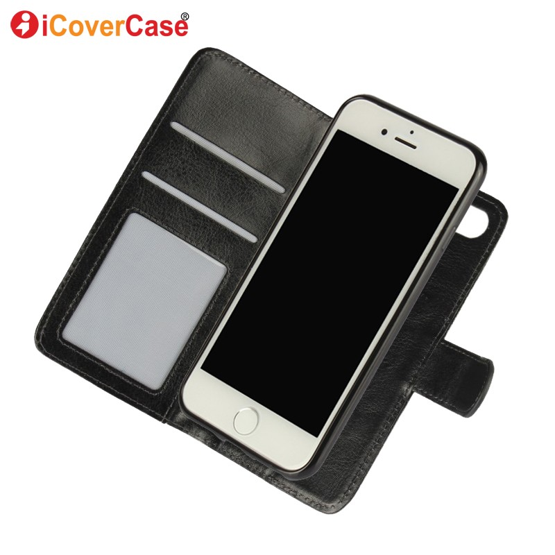 Case for iPhone 7 Cover Flip Leather Funda Movil Phone Cases Detachable Magnetic Wallet Luxury Coque