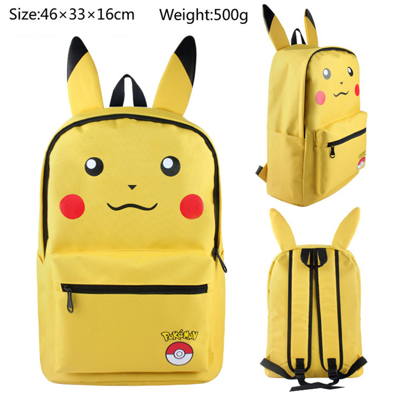 Pokemon Pikachu Backpack Book Bag Pocket Monster Rucksack Mochila Escolar Harajuku Anime Canvas School Bags 14 Styles