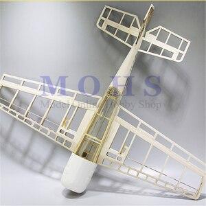 Image 1 - Самолёт с дистанционным управлением яка 54, деревянный самолёт, 3D наборы, шасси, капот, навесные петли, Синий принт, комбинированный радиоуправляемый самолет, набор YAK54