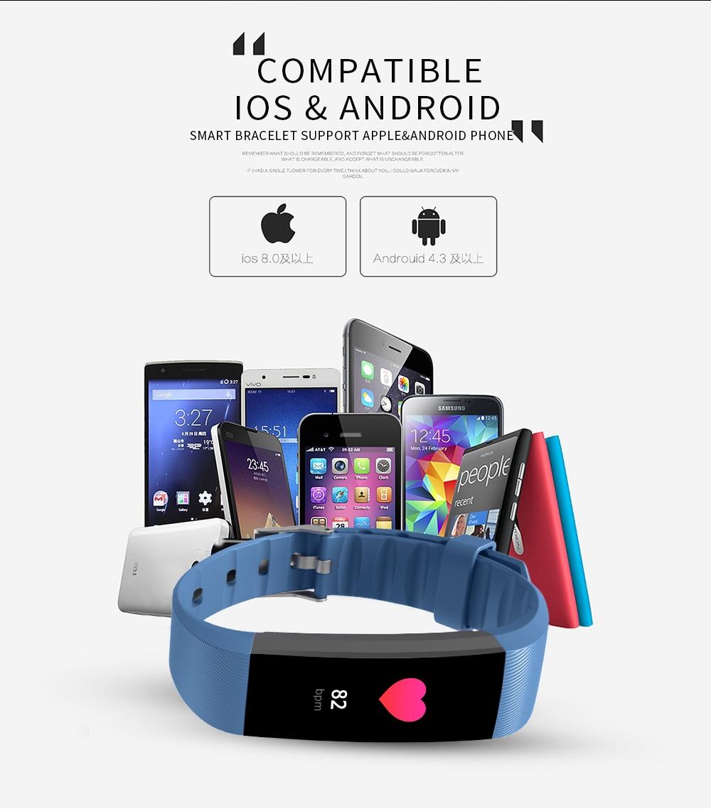 R11 Fitness Tracker Smart wristband Heart Rate blood Oxygen smart Bracelet call reminder Passometer fitness smart watch in Smart Wristbands from Consumer Electronics