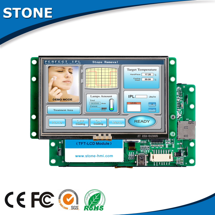 """4.3"""" TFT LCD Module STI043WT-01 with Touch Panel + Controller Board + Software Support Any Microcontroller"""