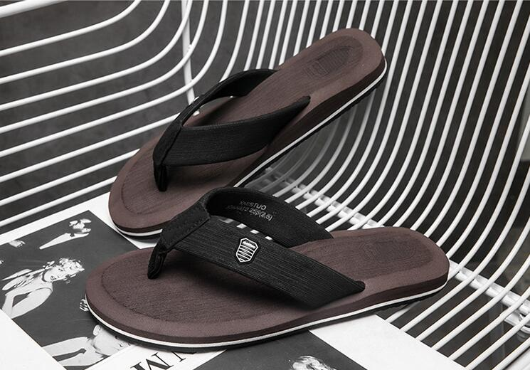 Beach Shoes 2018 Fashion Outdoor Men Lightweight Waterproof Slippers Large Size Summer Slippers 216 fghgf shoes men s slippers mak