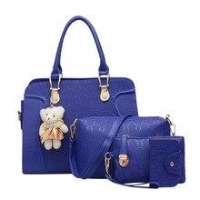 ONEFULL NEW FASHION 4PCS set  composite shoulder bag cross hand raisin four piece mother zipper bags brand