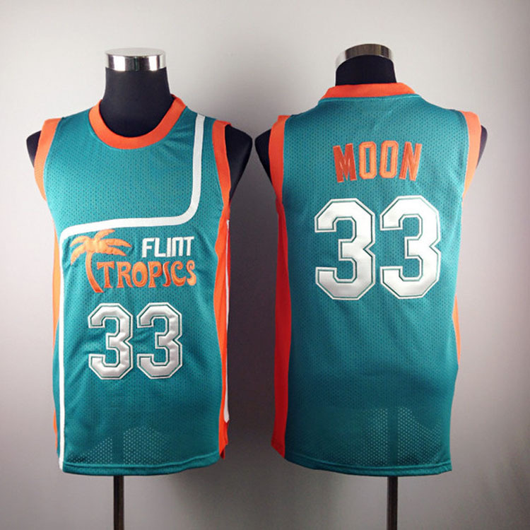a69b1009 Jackie Moon Flint Tropical Throwback Jerseys 33# Retro Basketball Movie  Jersey Cool Shirt Stitched Jersey Man White Green-in Basketball Jerseys  from Sports ...