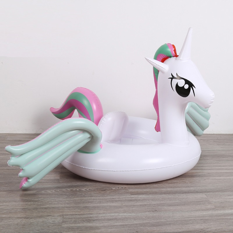 2019 Newest Unicorn Baby Kids Ride-on Swimming Ring Inflatable Pool Float For Children Water Safety Seat Lounger Boia Piscina