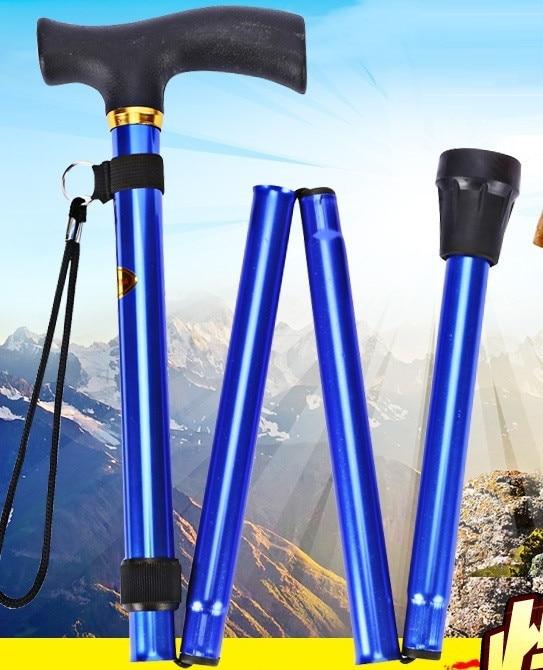Anti Shock Wandelen vouwen wandelstokken cane Ultralight 4-section skistokken verstelbare trekking poles wandelen stok wandelstok