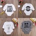 Crianças Meninos Roupas de Algodão Do Bebê Menina Bodysuit Manga Longa Corpo Bebes Onsies Outfits Roupa 0-18 M