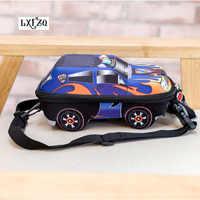 Mochila escolar menino LXFZQ 3D Carro crianças escola bags para meninos encantador Da Criança das crianças mochilas crianças mochila para crianças