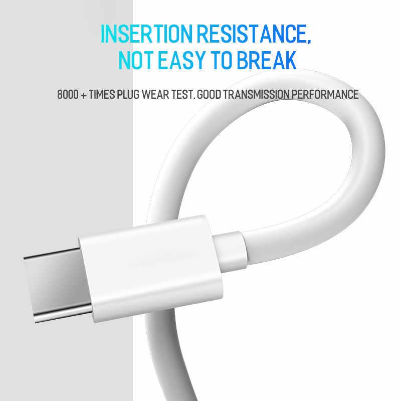 USB نوع C كابل لسامسونج غالاكسي S10 S9 M20 سريع بيانات الشحن كابل علامة هواوي زميله 20 لايت الهاتف المحمول شاحن الحبل USB-C