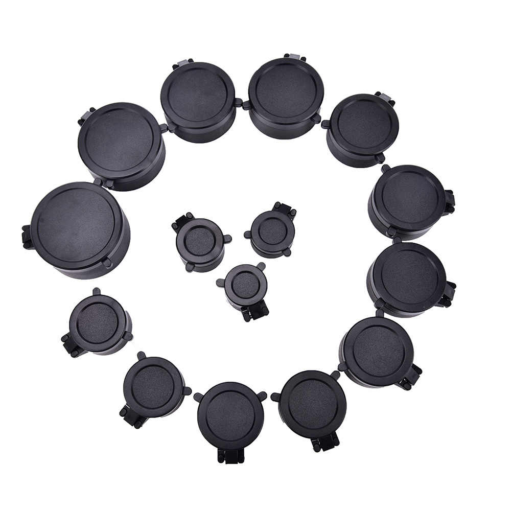 1 Pcs Rifle Scope Lens Cover Cap Voor Kaliber Jacht Scope Quick Flip Up Bescherming Lense Deksel Kaliber 25.5- 62 Mm