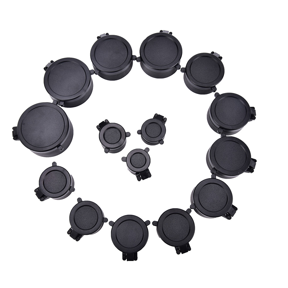 1 Pcs Rifle Scope Lens Cover Cap For Caliber Hunting Scope Quick Flip Up Protection Lense Lid  Caliber 25.5-62mm